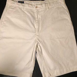 Ralph Lauren Polo Shorts, White, Size: 40L/40T